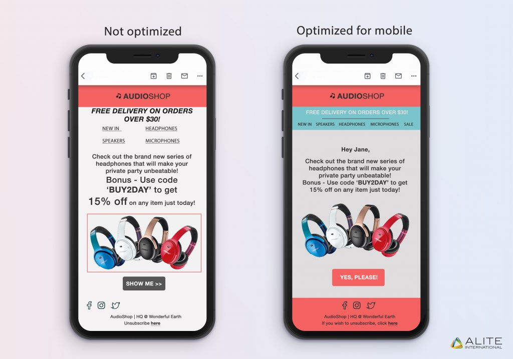 Mobile-optimized design is crucial for your email campaign's success.