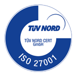 ISO 27001 certification badge